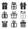 Gift an icon vector image vector image