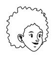 beautiful woman face young character image vector image