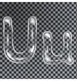 Bubbles letters U vector image