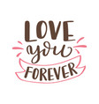 hand drawn poster with love elements brush vector image