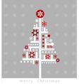 Modern Christmas greeting card vector image