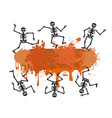 skull dancer banner for halloween design vector image
