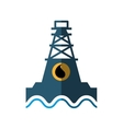 tower oil exploration industry vector image