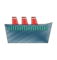 drawing cruise ship travel maritime vector image