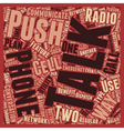 Push To Talk vs Two Way Radios text background vector image