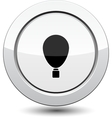 Button with balloon vector image vector image