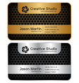 Golden silver honeycomb business card vector image