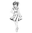 Pretty Anime Girl vector image vector image