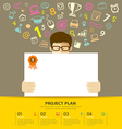 Business plan white paper in hands man vector image