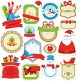 Set of Christmas Winter Lables Icons Flat vector image