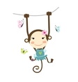 Funny monkey girl for your design vector image