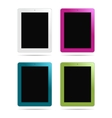 tablet pc different colors vector image vector image