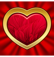 heart with floral pattern on valentines day eps10 vector image