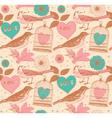 Vintage Love Birds Pattern vector image vector image