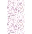 Baby girls horizontal seamless pattern background vector image