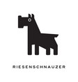 black and white silhouette of riesenschnauzer vector image