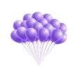 bunch birthday or party pink balloons vector image