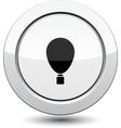 Button with balloon vector image