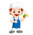 cartoon cute funny chef vector image