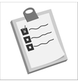 Diagnosis on paper icon black monochrome style vector image