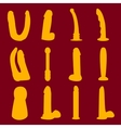 Dildo silhouettes set vector image