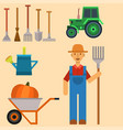 farm harvesting equipment for agriculture vector image