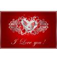 floral valentine card vector image
