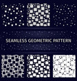 geometric square seamless patterns set vector image