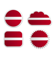 Latvia flag labels vector image