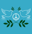 peace vintage and retro typographic design vector image