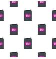 black wine card pattern flat vector image
