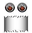 banner Halloween monster vector image
