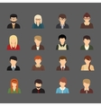 Social networks business private users avatar vector image