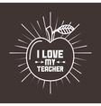 best teacher design vector image