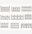 Antique fences - first set vector image vector image