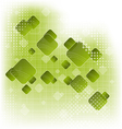 Abstract creative green background with squares vector image