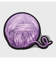 Ball of purple wool ball icon vector image