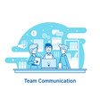 business team teamwork collaborationflat line vector image