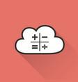 Cloud computing - icon vector image