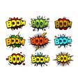 Comic cartoon style bubbles loud exlosion sound vector image