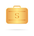 golden suitcase with money your personal secure vector image