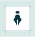 pen icon education vector image