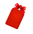 Red Sale Tag With Red Bow vector image