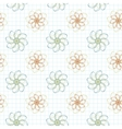 seamless pattern of flowers on a checkered vector image