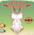 Summer vintage poster vector image