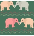Seamless pattern with elephants and hearts vector image