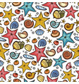 starfish shell seamless pattern vector image
