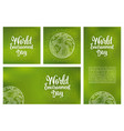 set horizontal vertical square posters world vector image