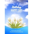 Bright card with tulips vector image vector image