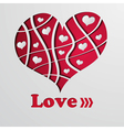 Abstract background with red strip heart vector image
